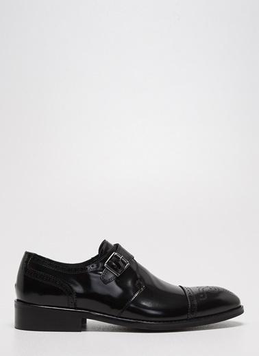 D by Divarese Deri Tokalı Klasik Ayakkabı Siyah